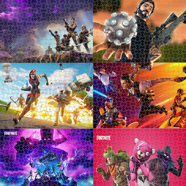 Fortniteing Game Puzzles Toys 300 Pieces Anime Figures Assembling Puzzle Children Educational Puzzles Toys for Boys Girls Gifts 2