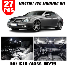 Kit completo de lámpara LED de techo interior para coche, Bombilla para estacionamiento de ciudad, para Mercedes Benz CLS W219, C219, CLS280, CLS300, CLS350, CLS550, CLS55AMG, 27 Uds.