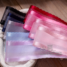 100yards 10 16 25 38mm satin picot edge organza sheer ribbon for kids hair bow diy craft supplies bouquet flower package