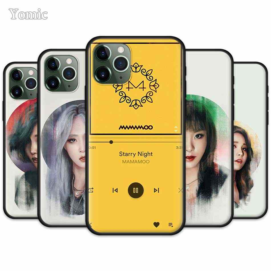 Kpop Muziek Mamamoo Case Voor Apple Iphone 11 Pro Xr X Xs Max 7 8 6 6S Plus 5 5S Se Zwart Silicone Soft Phone Cover Coque