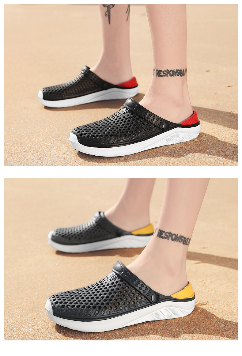 H402b9bcd01ff425a836a7bc948ccdc28B - Summer Beach Sandals Lightweight Lovers Garden Shoes Non-slip Water Shoes Men White Slippers Clogs For Women Size 36-45