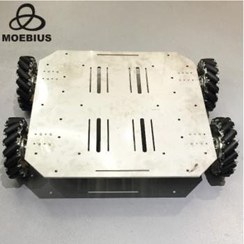 70kg Heavy-Duty Mecanum Wheel Trolley Omnidirectional  Mobile Robot Metal Chassis for Research