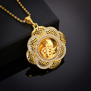 Image 5 - Crystal Muslim Islam Coin Necklace Women/Men Gold Color Turkey Wedding Jewelry Turkish Coin Lucky Allah Pendant Never Faded