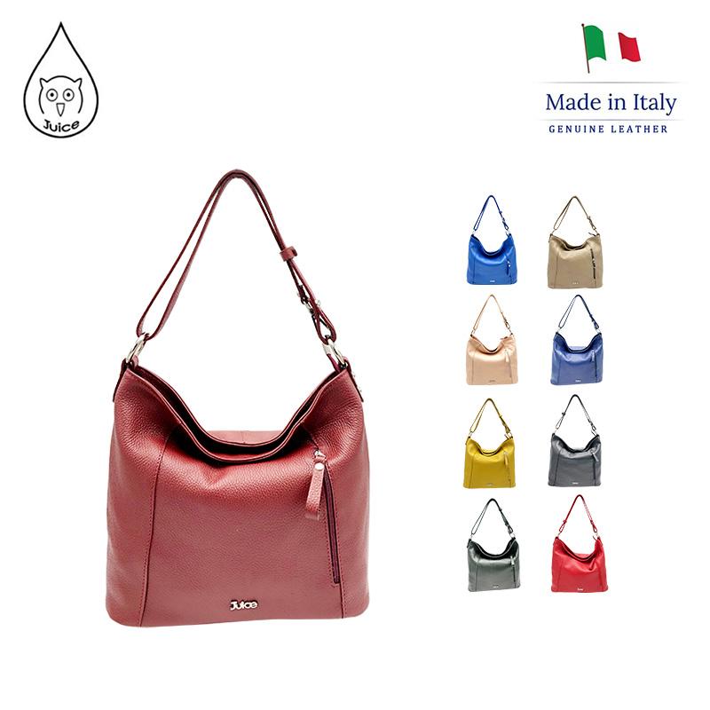 JUICE, Made In Italy, Genuine Leather, Women Bag,women Shoulder Bags,dollaro Leather Soft Leather 112006