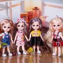 Шарнирное милое платье 16 см, Подвижная кукла принцессы с комплектом летней одежды, подарок на день рождения для девочек
