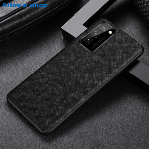 Image 3 - Fashion Cross Genuine Leather & TPU Back Case For Honor View30 V30 Pro Luxury Slim Shockproof Cover Case For Honor View 30 Pro