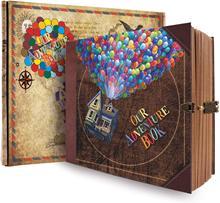DIY Handmade Album Scrapbook Our Adventure Book Movie Up Travel Scrapbook for Anniversary, Wedding, Travelling , baby shower