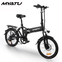 MYATU Mini Bike Folding Electric Bike 20 inch Wheel 250w Motor E Bike Electric Bicycle Scooter Two Seat 48v 8ah Lithium Battery все цены