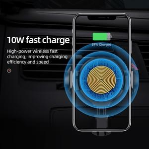Image 2 - HOCO cargador inalámbrico rápido Qi para coche, soporte de teléfono con sensor infrarrojo automático, para iPhone XS Max X XR, Samsung Note 9 S9 S8