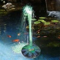 Fuente de bomba Solar flotante, fuente alimentada por Panel Solar de 5V/1,4 W con 4 boquillas para estanque, piscina, decoración de jardín al aire libre