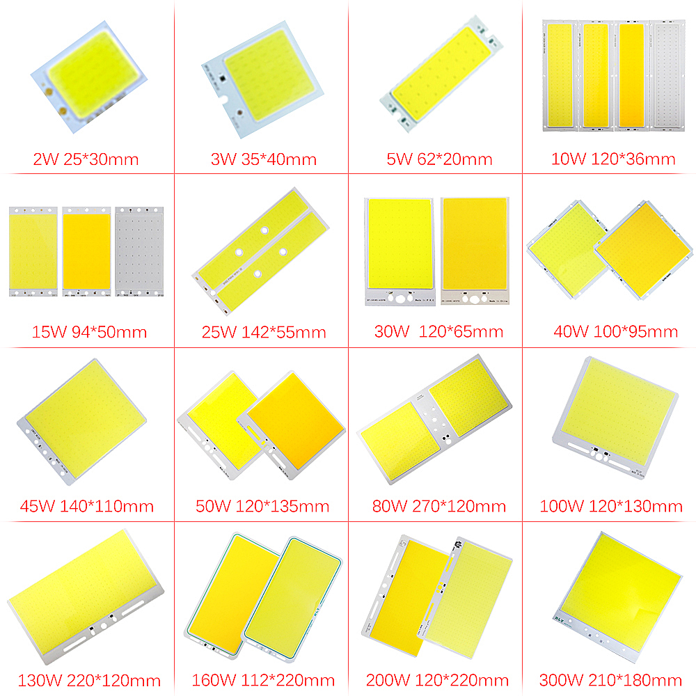 LED 12V Chip COB Led Plate Light Source Bulb 2W-300W Lamp For Home DIY Bulb Spotlight Flood Light Diode Led Lamp 12 V JQ0