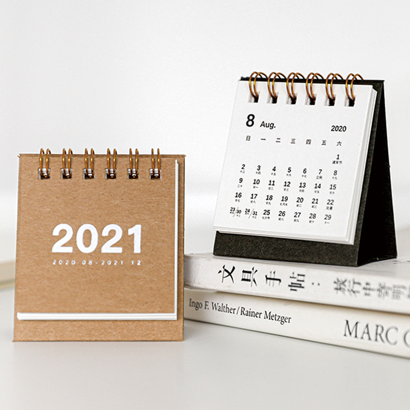 Desktop Calendar 2021 Mini Desk Calendar 2020 2021 Creative Desktop Ornaments Decoration