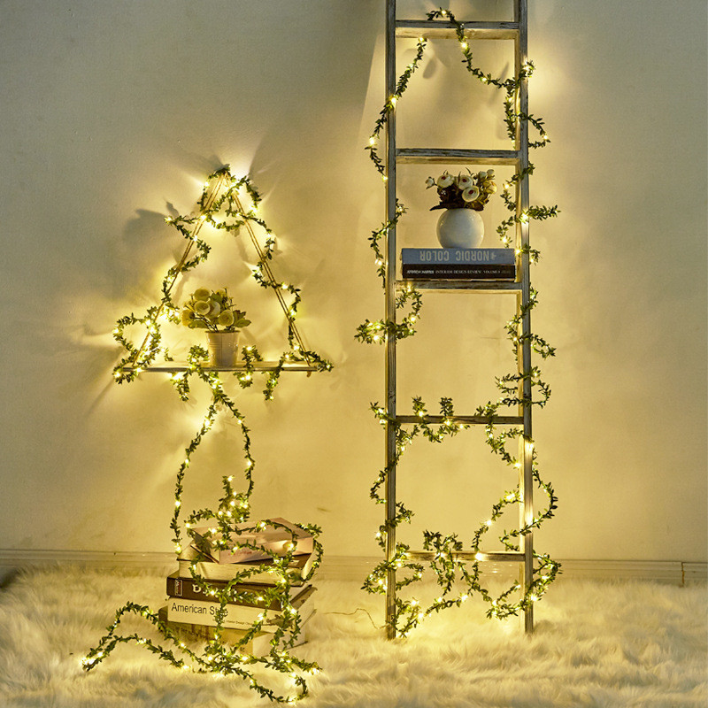 20/30/50/100 Leds Tiny Leaves Garland Fairy Light LED Copper Wire Battery String Lights For Wedding Christmas Party Home Decor