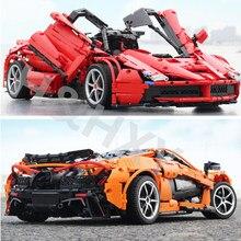 XQ1001 XQ1002 McLaren P1 Hypercar Ferraried Racing Sports Car Motor Power Function Technic Building Blocks Bricks Kids Gift Toy