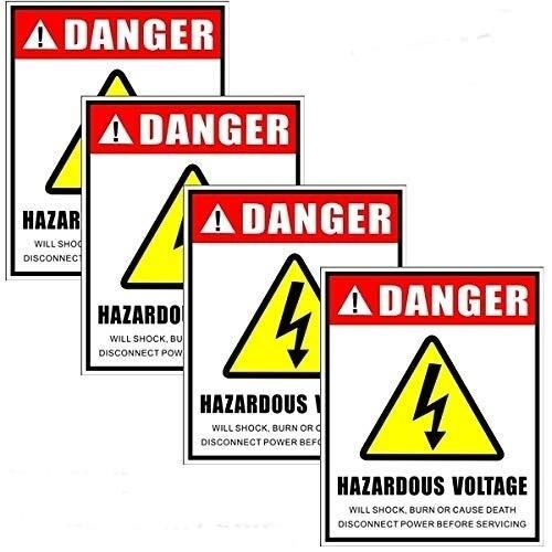 16 cm x 13 cm HIGH VOLTAGE WARNING SIGN VINYL STICKER