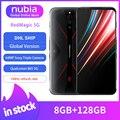 Original versión Global Nubia magia roja, 5G de teléfono móvil 6,65 pulgadas 144Hz 8GB 128GB Snapdragon 865 Android 10 WIFI 6