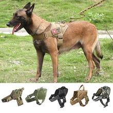 купить Military Tactical Dog Harness Patrol K9 Working Pet Collar Small Large Dog Harness Service Dog Vest With Handle Pet Products по цене 565.99 рублей