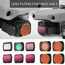 Sunnylife Mavic 2 aire filtros de objetivo de cámara UV CPL ND4 NDPL filtro profesional para DJI Mavic Air2 Quadcopter Drone Accesorios
