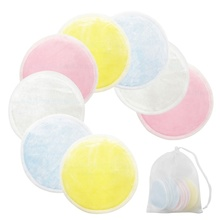Make-Up-Facial-Remover Cleaning-Pads with Laundry-Bag Washable Nail-Art Double-Layer