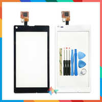 "High Quality 4.3"" For Sony Xperia L S36h C2105 C2104 Touch Screen Digitizer Front Glass Lens Sensor Panel"