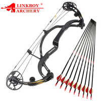 Linkboy Archery Pure Carbon Fiber Compound Bow Predator 2 Generation 50-65lbs for Hunting Shooting