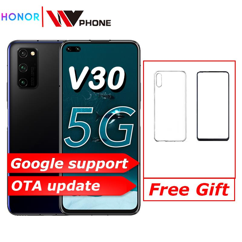 Original Honor V30 Kirin990  Octa Core 5G Smartphone 6GB 8GB 128GB  40mp Triple Camera 40W SuperCharge 5G Mobile Phone