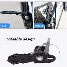 1pair Bike Rear Pedal MTB Folding Footrests Cycling Accessories Bicycle Foot Peg K1KD