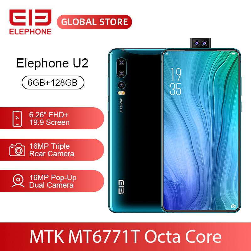 ELEFON U2 MT6771T Octa Core 6GB 128GB Handy 16MP Pop-Up Dual Cam 6,26