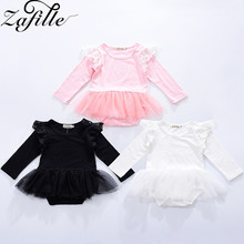 ZAFILLE 2020 Baby Mesh Dress Solid Girl Clothing Long Sleeve Summer Dress Toddler Newborn Infant Tutu Dress Baby Girl Clothes long sleeve baby girl dress newborn princess infant baby girl clothes mesh tutu ball gown party dresses little girls clothes