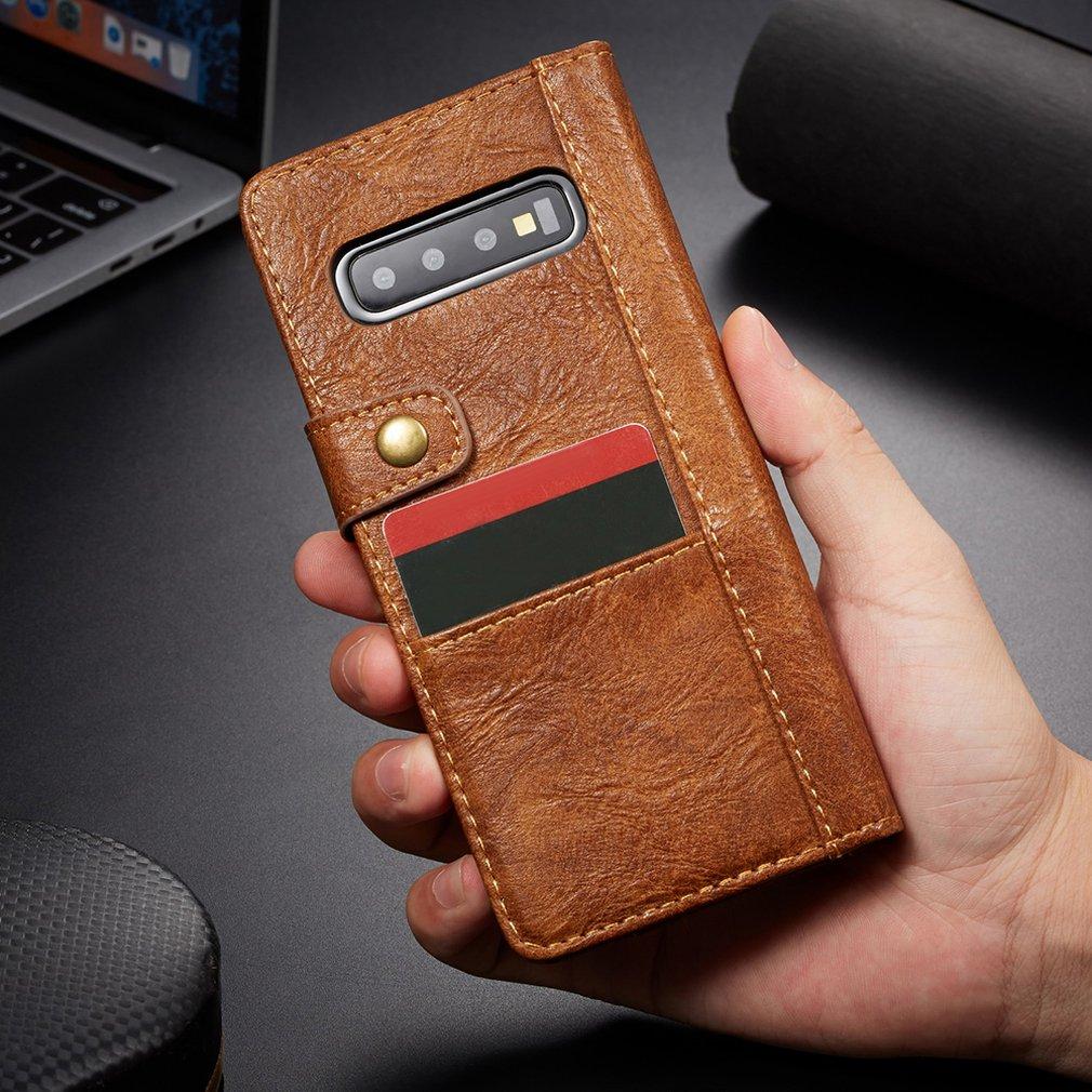 2 In 1 Wallet Phone Holster Shockproof Armor Case Cover For Samsung Rough Crack Wallet Phone Case Card Pocket