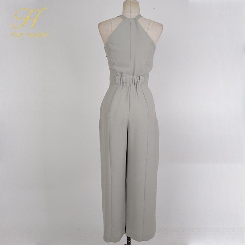 Big Sale¬Long Romper Jumpsuits Women Queen Work-Playsuits Sexy High-Waist Korean Sleeveless Straight