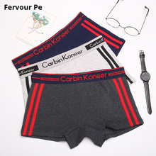 Fervour pe woman Cotton Underwear Stretch Women Panties handsome neutral Boyshort Stripe broadside shorts A19037