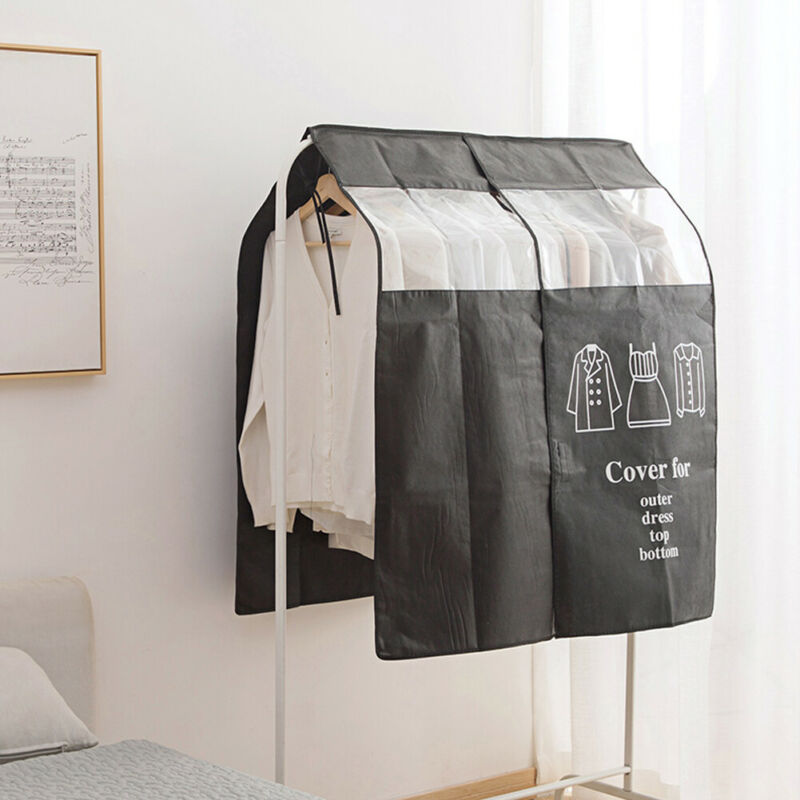 Home Bedroom Hanging Garment Bag Dust Water Proof Clothes Cover Closet Storage Cover