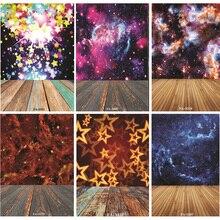 цена на Vinyl Custom Photography Backdrops Prop  Space Starry Sky and floor Theme Photography Background FA20419-94