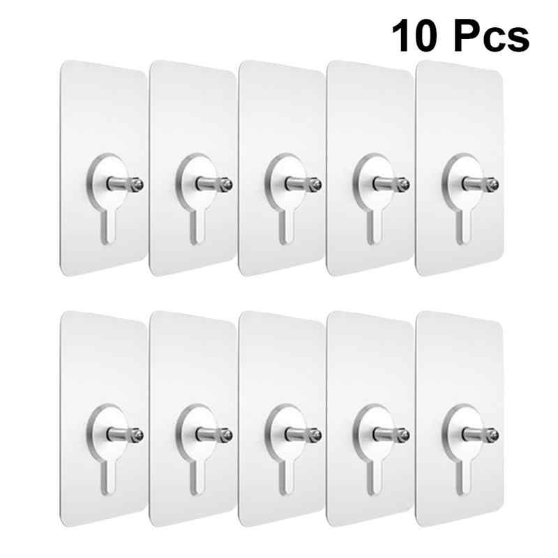 10pcs Punch-Gratis Non-marking Schroef Stickers Muur Foto Haak Onzichtbare Traceless Hardwall Gipsplaten Foto Opknoping Kit