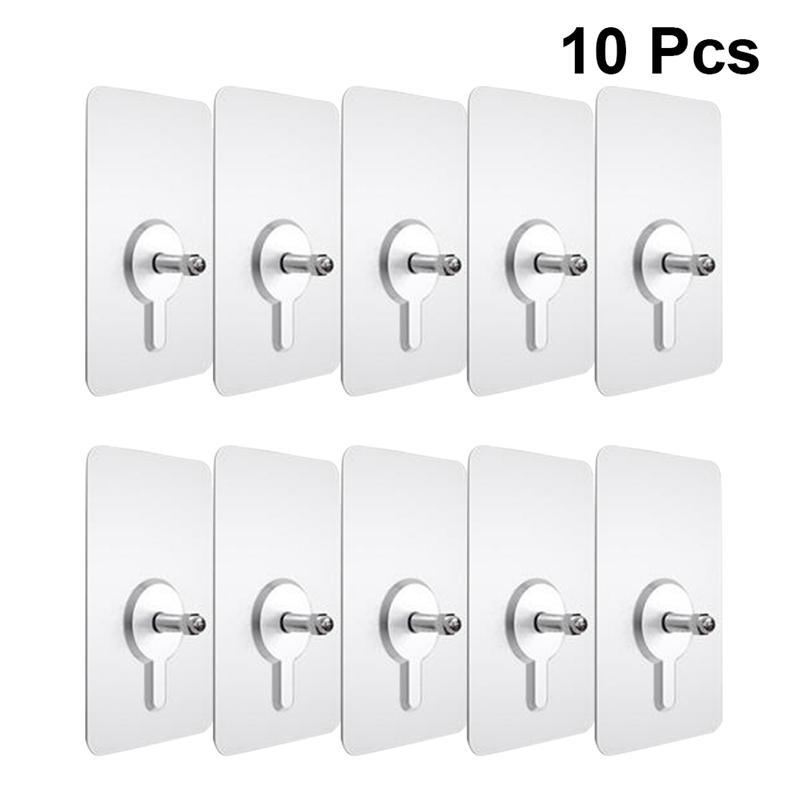 10 stücke Punch-Freies Nicht-Kennzeichnung Schraube Aufkleber Wand Bild Haken Unsichtbare Spurlose Hard Trockenbau Bild Hängen Kit