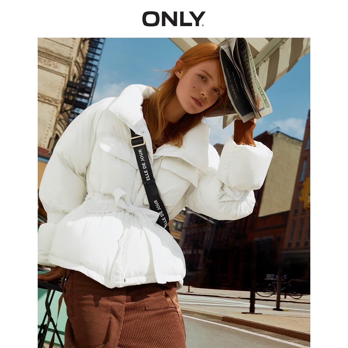 ONLY Women's Women's Cinched Waist Short Cotton Coat   119322513