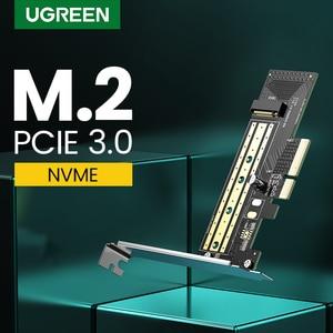 Image 1 - Адаптер Ugreen PCIE для M2 NVMe M.2 PCI Express адаптер 32 Гбит/с PCI E карта x4/8/16 M & B Ключ SSD компьютерное расширение добавить на карты
