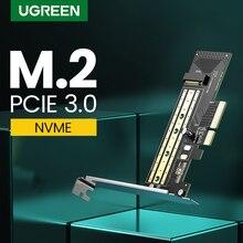 Ugreen PCIE do M2 Adapter NVMe M.2 Adapter pci express 32 gb/s karta PCI E x4/8/16 M & B klucz SSD komputer ekspansji dodać na karty