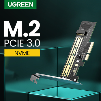 Ugreen PCIE to M2 Adapter NVMe M.2 PCI Express Adapter 32Gbps PCI-E Card x4/8/16 M&B Key SSD Computer Expansion Add On Cards