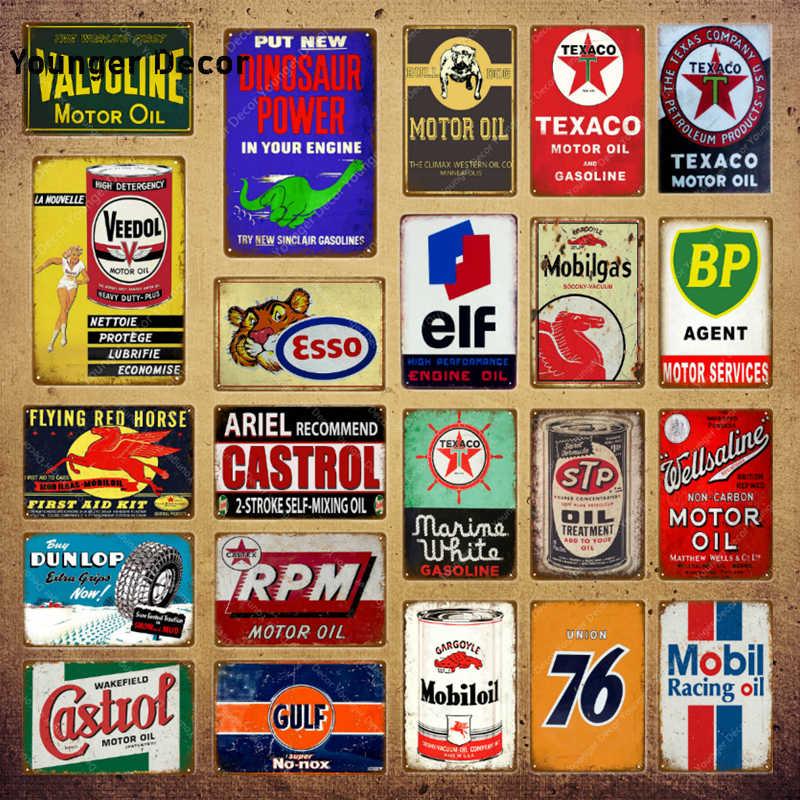 Penn Motor Oil Vintage metalowe tabliczki Retro wystrój garażu tablica Bar Pub stacja benzynowa płytki dekoracyjne Gastrol naklejka ścienna YI-135
