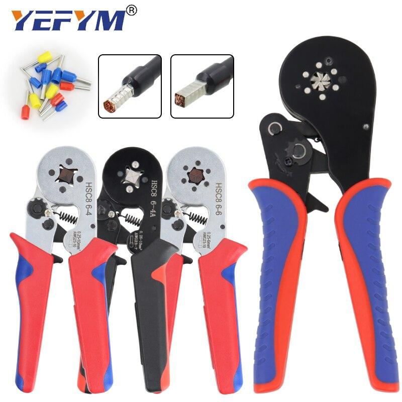 Ferrule Crimping Tool Kit - Sopoby Ferrule Crimper Plier 0.08-16mm2 /1200pcs Wire Ferrules Crimp Wire Ends Terminal(China)
