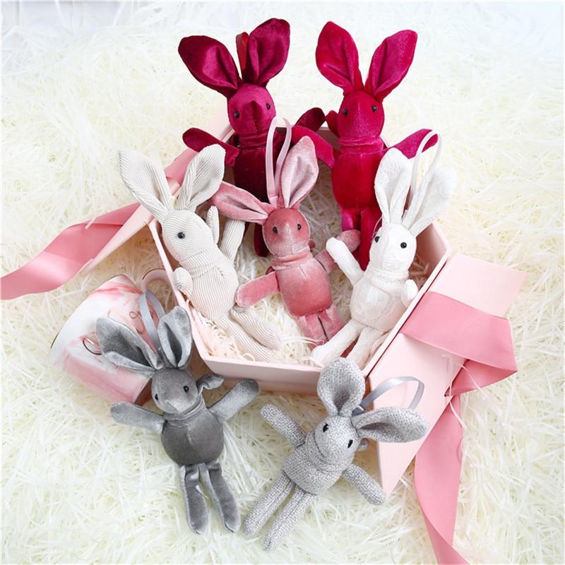 20cm Rabbit Plush Toy Stuffed Soft Rabbit Doll Baby Kids Toys Animal Toy Keychain Birthday Christmas Valentine Gift For Lover
