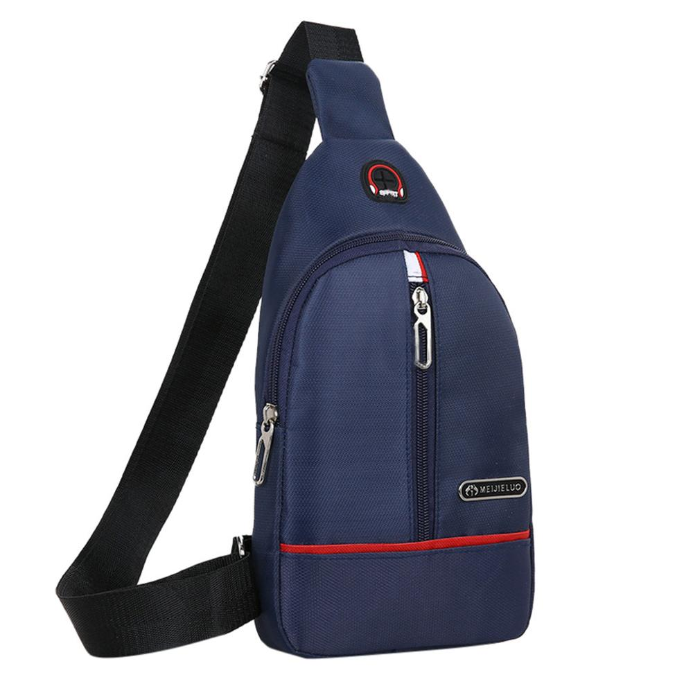 Men Bag Messenger Crossbody  Handbag Single Should Fashion Casual Chest Waist Bag Simple Fashion Multifunction H1