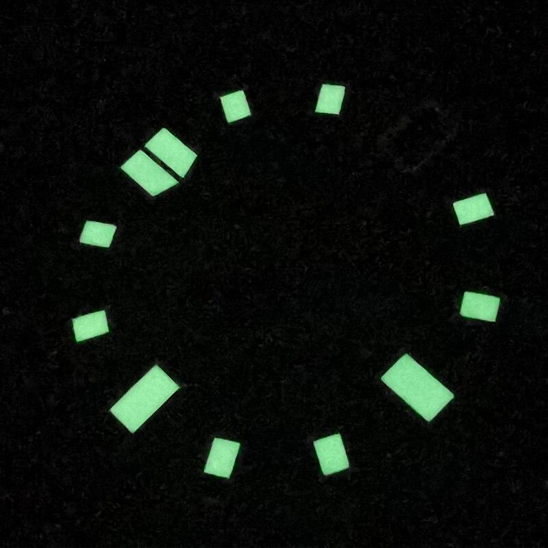 28.5mm preto estéril 6015 relógio luminoso dial