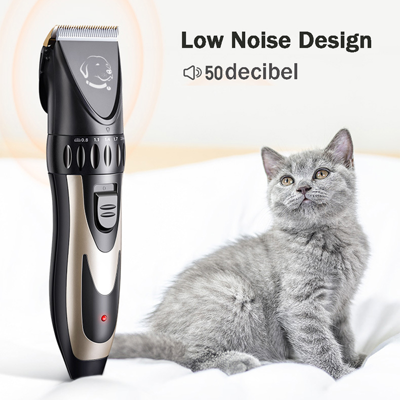 Professional Pet Dog Hair Trimmer Animal Grooming Clippers Cat Cutter Machine Shaver Electric Scissor Clipper 110-240V Low-noise