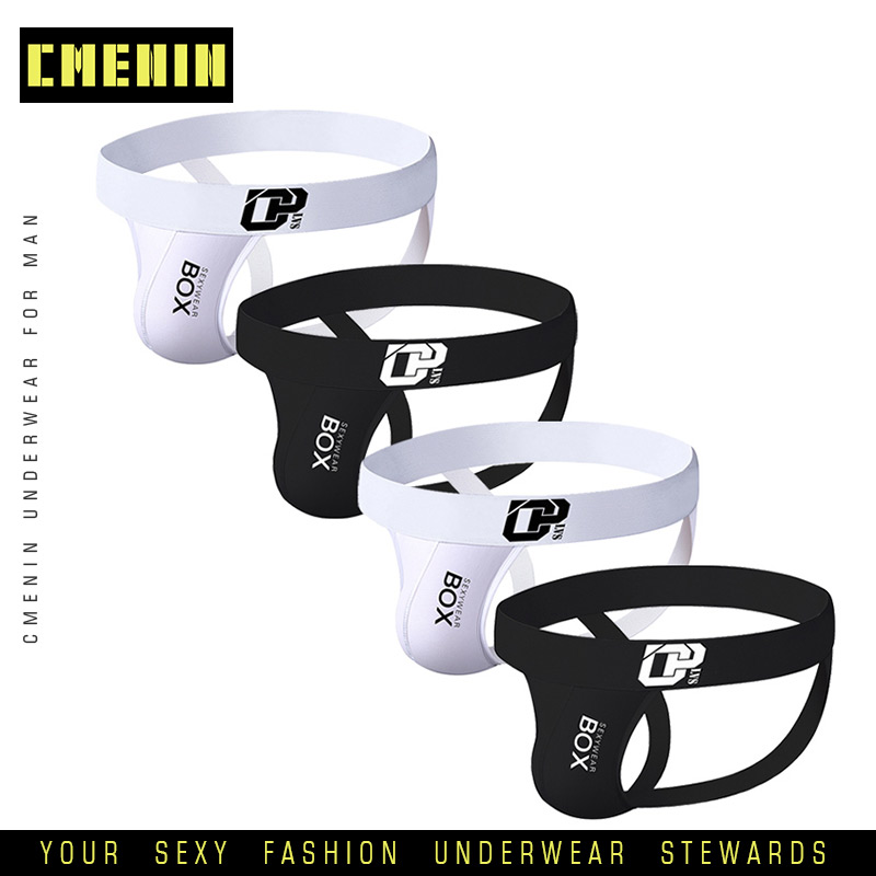 4Pcs/lot Soft Comfortable Sexy Gay Underwear Men Thong Men Jockstrap Men's Lingerie G String Men Penis Pouch Gay Underwear Sexi