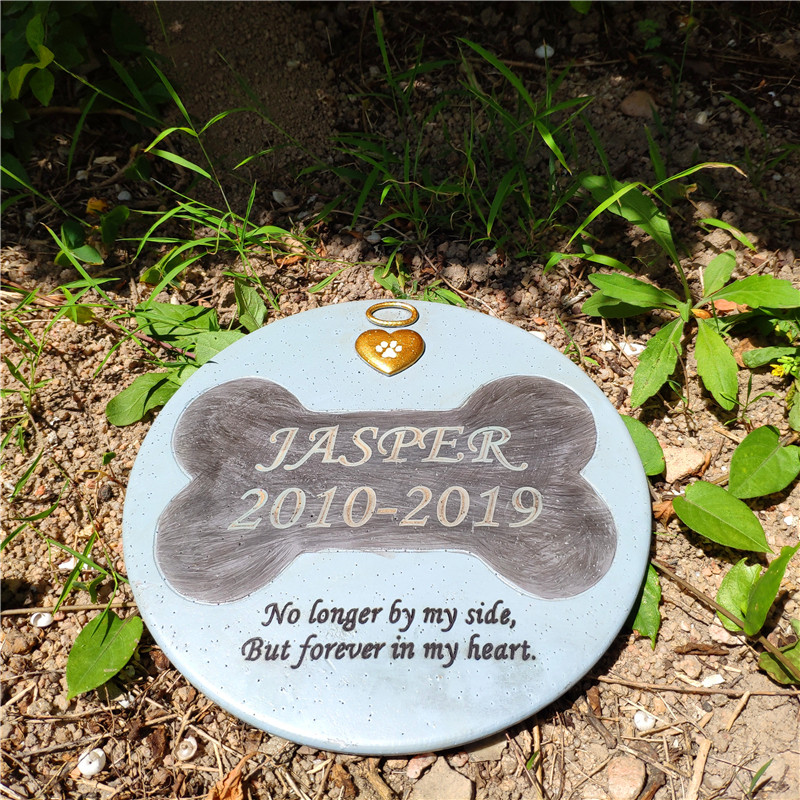 Personalized  Dog Grave Marker Or Garden Memorial Stone For  Thoughtful Pet Loss Sympathy Gift Can Be Used Inside Or Outside