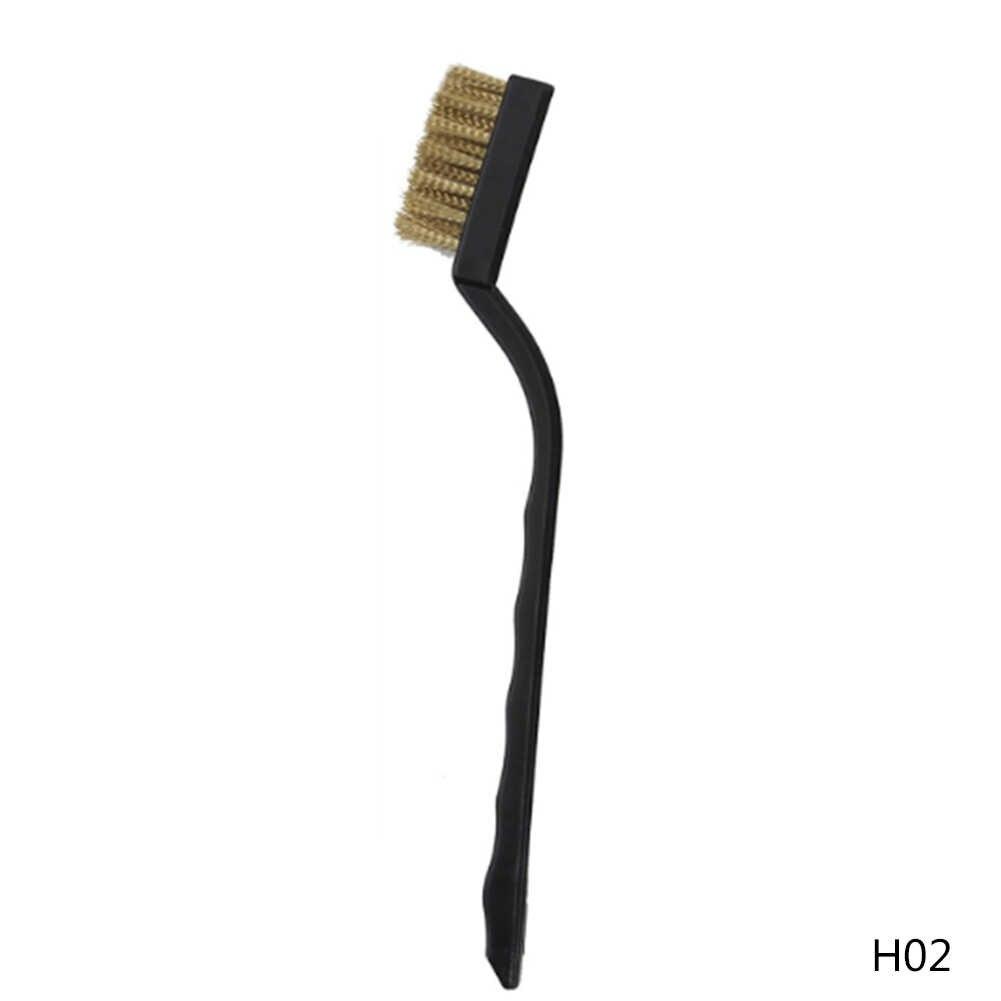 3 סוגים ניקוי מברשת ניילון פליז נירוסטה חוט מברשת סט נחושת חוט ניילון תעשייתי מברשת שיניים יד כלי אבזרים