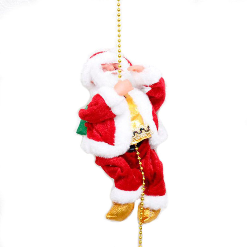 Santa Claus Ornament Singing Electric Stair Climbing Toy for Christmas Decoration WWO66